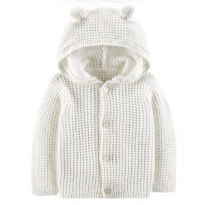 3/$25 Carter's Hooded Knit Cardigan